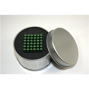 Neocube 216 bile magnetice 5mm, joc puzzle, culoare verde - imagine 2