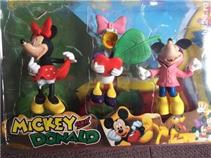 Set 6 figurine cu Mickey Mouse,.Donald,Daisy si Minnie,noi - imagine 3