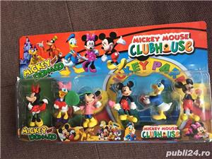Set 6 figurine cu Mickey Mouse,.Donald,Daisy si Minnie,noi - imagine 1