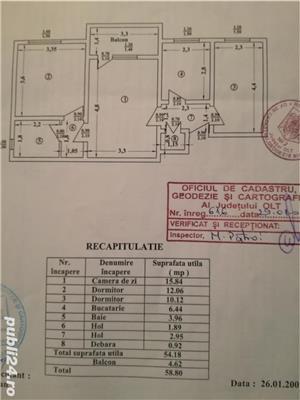 Vand apartament 3 camere in Slatina, str. Trandafirilor ,zona spital, etajul 4, nu are acoperis. - imagine 1