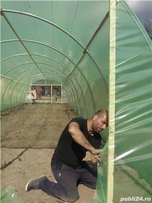 solar legume si flori 28 m lungime /4 m deschidere/ 2,6 m inaltime - imagine 4