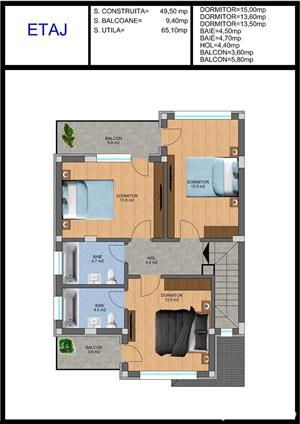 Vila tip duplex disponibil imediat comision 0 sectorul 4 - imagine 4
