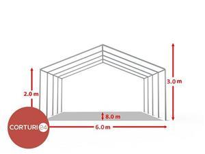 Promotie: 6X8 M CORT EVENIMENTE, PVC ALB - imagine 4