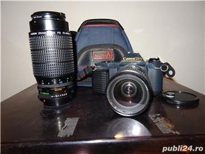 aparat foto Canon T50 si Teleobiectiv Macro Canon Zoom Lens FD 75-200 mm, 1:4.5 - imagine 1