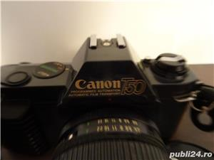 aparat foto Canon T50 si Teleobiectiv Macro Canon Zoom Lens FD 75-200 mm, 1:4.5 - imagine 5