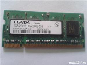 Vand Memorie Laptop Ram Elpida EBE11UE6ACSA-6E-E 1Gb DDR2 667Mhz Pret 25 Lei - imagine 1