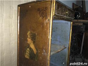 Masuta-dulapior bronz de colectie incrustatii emailate - imagine 1
