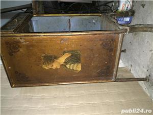 Masuta-dulapior bronz de colectie incrustatii emailate - imagine 3