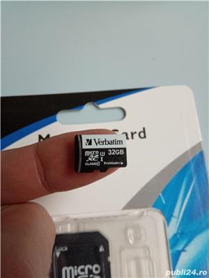 Micro sd Verbatim 32Gb (class 10 premium +)+adaptor+cititor card usb2.0 - imagine 1