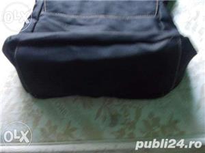 Geanta f frumoasa de la ARMANI Jeans, piele+material impermeabil, marime medie, culoare neagra - imagine 5