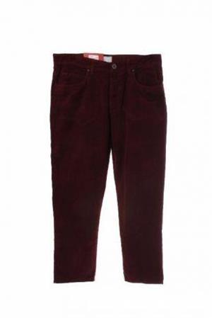 pantaloni dama de la BENETTON, din catifea raiata, culoare visiniu inchis, M, L, XL, 2XL - imagine 1