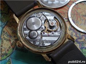 Ceas rusesc de colectie WOSTOK cal. 2605, 17 jewels, placat cu aur - imagine 5