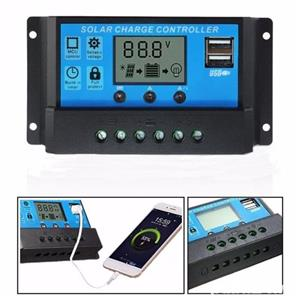 Regulator solar 10A 20A 30A 12V/24V LCD Controler PWM - imagine 2