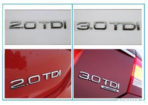 Emblema Audi 2.0 TD,3.0 TDI - imagine 3