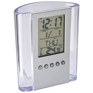 Ceas LCD Auriol,cu suport de pixuri,afiseaza temperatura,ora,data,ziua,nou - imagine 4