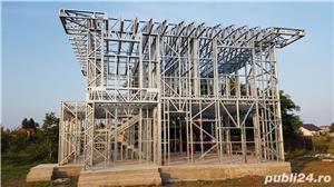 Structura metalica usoara pentru Case si Hale - de la 85 euro+TVA/mp - imagine 6
