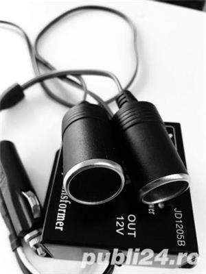 Invertor Transformator 24v la 12 v mufa bricheta gata de folosire - imagine 1