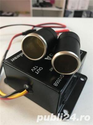 Invertor Transformator 24v la 12 v mufa bricheta gata de folosire - imagine 5