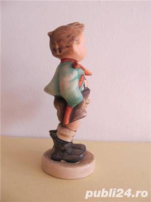 Bibelou din ceramica , baietel cu cos , vintage (5) - imagine 2