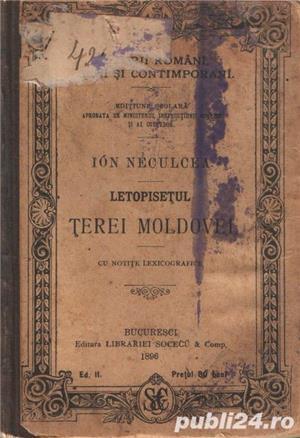Letopiseţul Ţerei Moldovei de Ion Neculce 1897 - imagine 2