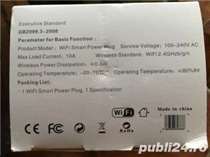 Priza cu wifi telecomandata de pe smartphone apple sau android,cu USB - imagine 8
