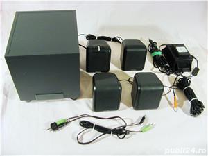 Sistem audio 4.1 Philips boxe subwoofer difuzoare sateliti  - imagine 2