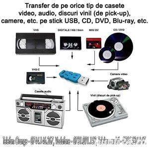 Transfer de pe casete video, casete audio, vinil, etc. - imagine 1