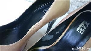 Pantofi dama din piele cu toc si platforma - imagine 7