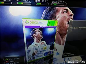 Xbox360 slim, modat rgh, 250gb hdd, GTA5 si Fifa18 - 40 jocuri in total - imagine 2