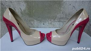 Pantofi dama eleganti Mineli cu toc si platforma marimea 37 - imagine 2