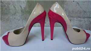 Pantofi dama eleganti Mineli cu toc si platforma marimea 37 - imagine 3