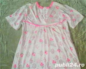 Camasa de noapte/Pijama dama, 100%coton subtire, model frumos, marimi L, XL, 2XL, 4XL, 6XL - imagine 2