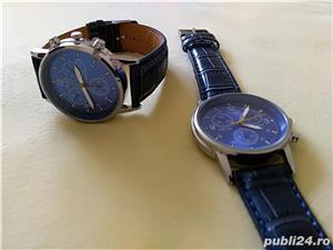 Ceasuri de mana barbatesti cadran albastru curea albastra - imagine 1