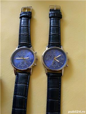 Ceasuri de mana barbatesti cadran albastru curea albastra - imagine 4