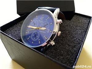 Ceasuri de mana barbatesti cadran albastru curea albastra - imagine 2