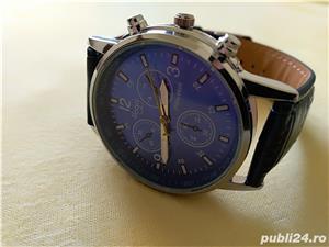 Ceasuri de mana barbatesti cadran albastru curea albastra - imagine 3