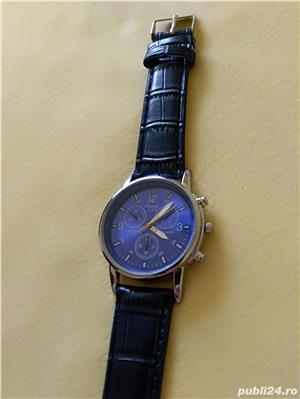 Ceasuri de mana barbatesti cadran albastru curea albastra - imagine 6