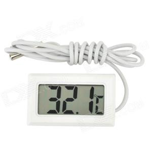 Termometru digital rezistent la apa - alb . Tip: Termometru interior, exterior - imagine 2
