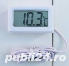 Termometru digital rezistent la apa - alb . Tip: Termometru interior, exterior - imagine 5