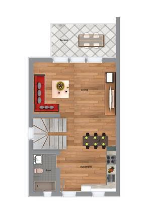 Proprietar, casa noua - zona Girocului, la asfalt, 3 camere, 2 bai, 90 mp utili - pret de apartament - imagine 17