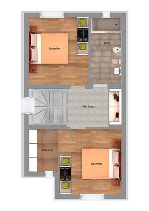 Proprietar, casa noua - zona Girocului, la asfalt, 3 camere, 2 bai, 90 mp utili - pret de apartament - imagine 16