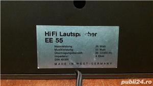 Boxe vintage HiFi EE-55, norma DIN 45500 - imagine 2