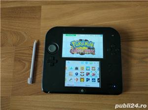 Consola Nintendo 2ds, modata, card 32gb, Pokemon Moon + Mario - imagine 4