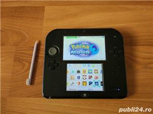 Consola Nintendo 2ds, modata, card 32gb, Pokemon Moon + Mario - imagine 2
