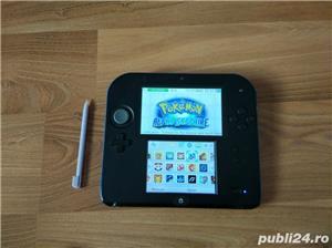 Consola Nintendo 2ds, modata, card 32gb, Pokemon Moon + Mario - imagine 6