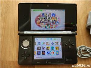 Consola Nintendo 3ds, modata, card 32gb, Pokemon Moon + Super Mario - 20 jocuri - imagine 2