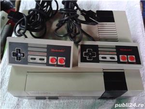 vand consola joc vintage, NES,PAL,nintendo entertainment system,cu 6 jocuri de top,4 manete - imagine 10