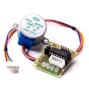 motor pas cu pas stepper 5V cu reductie 4 faze pt Arduino model 28BYJ-48 - imagine 2