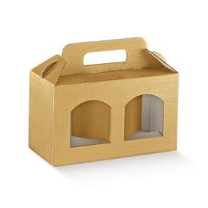 Cutii cadou din carton cu maner pentru 2 sau 3 borcane, cutii cadou dimensiuni variate de borcane  - imagine 2