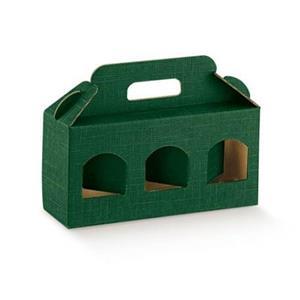 Cutii cadou din carton cu maner pentru 2 sau 3 borcane, cutii cadou dimensiuni variate de borcane  - imagine 4